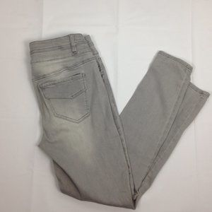 Tinseltown Gray Stretch Skinny Ankle Pants